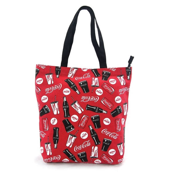 382349a34e1c Shop Coca-Cola Drinks Red Canvas Tote Bag - On Sale - Free Shipping On  Orders Over  45 - Overstock - 21155317