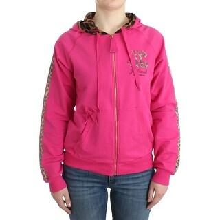 Cavalli Pink zipup cotton sweater