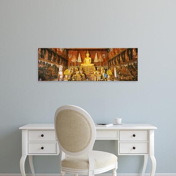 Easy Art Prints Panoramic Images's 'Interiors of a temple, Wat Suwandararam, Ayuthaya, Thailand' Premium Canvas Art