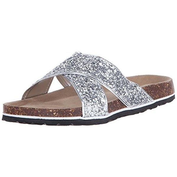 JSport by Jambu Womens Grace Slide Sandals Vegan Glitter