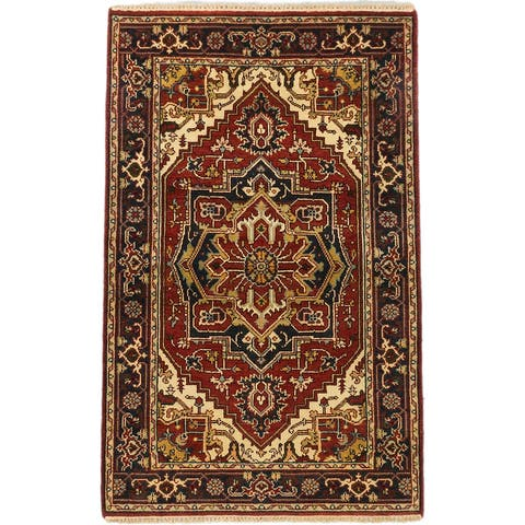 """ECARPETGALLERY Hand-knotted Serapi Heritage Copper Wool Rug - 3'10"""" x 6'2"""""""