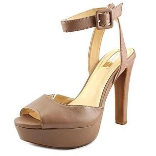Jessica Simpson Ringlie Open-Toe Faux Leather Heels