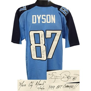e519397ec Shop Kevin Dyson signed Light Blue Custom Stitched Pro Style Football Jersey  3 insc Music City Miracle 1 - Free Shipping Today - Overstock - 19872423