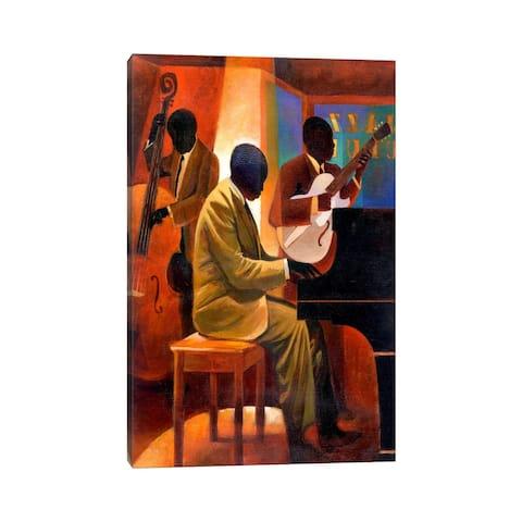 "iCanvas ""Piano Man"" by Keith Mallett Canvas Print"