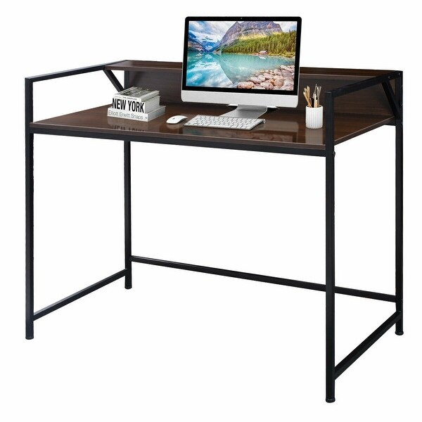 Shop Costway Modern Computer Laptop Desk Study Workstation