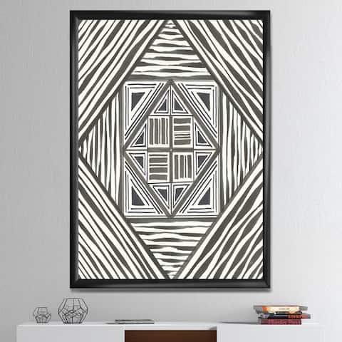 Designart 'Minimalist Graphics II' Transitional Framed Art Print