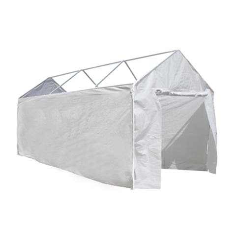 ALEKO Sidewalls White Walls for Canopy Carport 10X20
