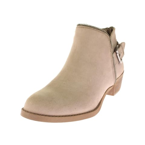 Carlos by Carlos Santana Womens Cayenne Ankle Boots Faux Suede Buckle