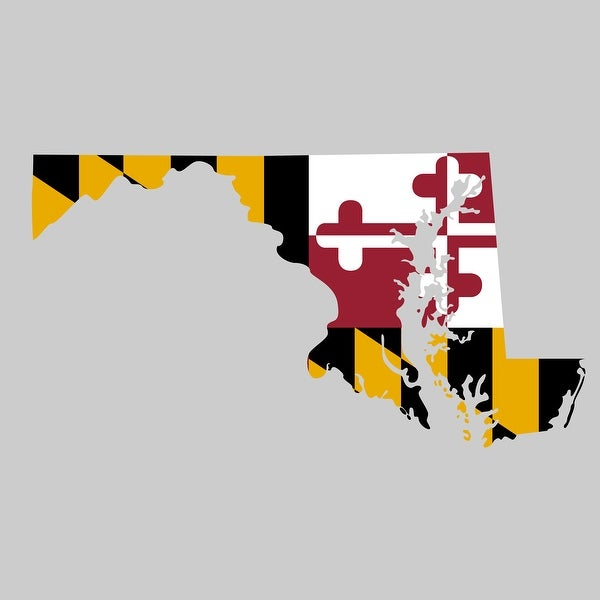 Maryland - State Flag Decal - 24x24 Peel'N'Stick Wall Art