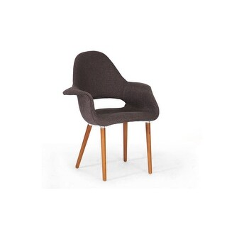 Forza Dark Brown Mid-Century Style Accent Chair - 2 Chairs