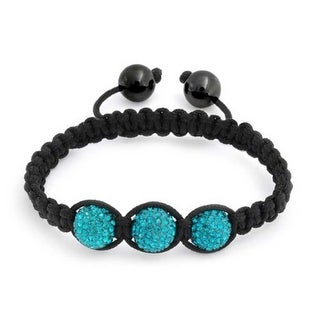 Bling Jewelry Kids Bracelet Shamballa Inspired Blue Crystal Beads 10mm