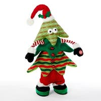 """16"""" Battery Operated Singing and Jumping Christmas Tree Tabletop Decoration"""