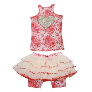 Ooh! La La! Couture Girls Coral Champagne Toile Skirt Outfit
