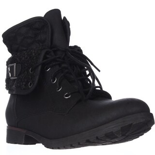 Rock & Candy Spraypaint Foldover Ankle Boots - Black