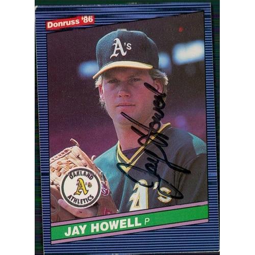 Signed Howell Jay Oakland Athletics Signed 1986 Donruss Baseball Card Autographed