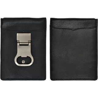 continental leather bottle opener money clip front pocket wallet free shipping on orders over. Black Bedroom Furniture Sets. Home Design Ideas