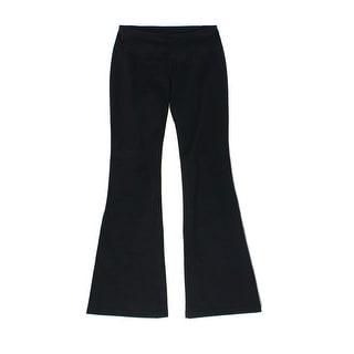 Zella NEW Rich Black Womens Size Small S Stretch Flare-Leg Yoga Pants