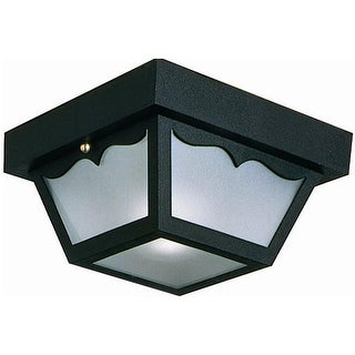 Design House 502872 Flush Outdoor Ceiling Mount With Black Finish