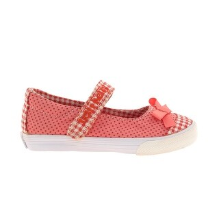 Lelli Kelly Lk9316 Girl's Canvas Upper Polka Dot Mary Janes - Coral