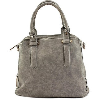 Violet Ray Logan Triple Compartment Satchel Women Synthetic Satchel - Gray