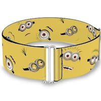Minion Expressions Scattered Yellow Cinch Waist Belt   ONE SIZE