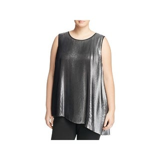 Daniel Rainn Womens Plus Casual Top Metallic Sleeveless