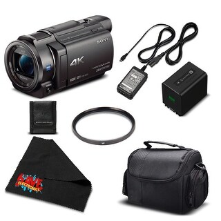 Sony 4K HD Video Recording FDRAX33 Handycam Camcorder-Bundle w/Accessories (5 options available)