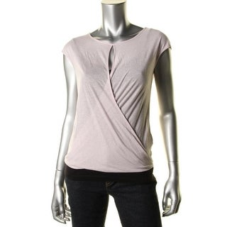 Theory Womens Diona Knit Slub Pullover Top - S