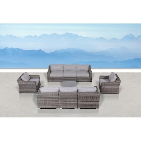 LSI 9 Piece Sectional Seating Group with Cushions