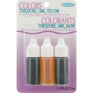 Colors .75Oz 3/Pkg-Yellow, Turquoise & Lime