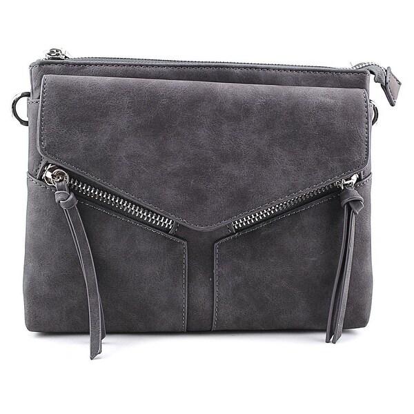 ... Mini Bags. Violet Ray Leanna Envelope Crossbody Women Leather Messenger  - Black b8632cb449721
