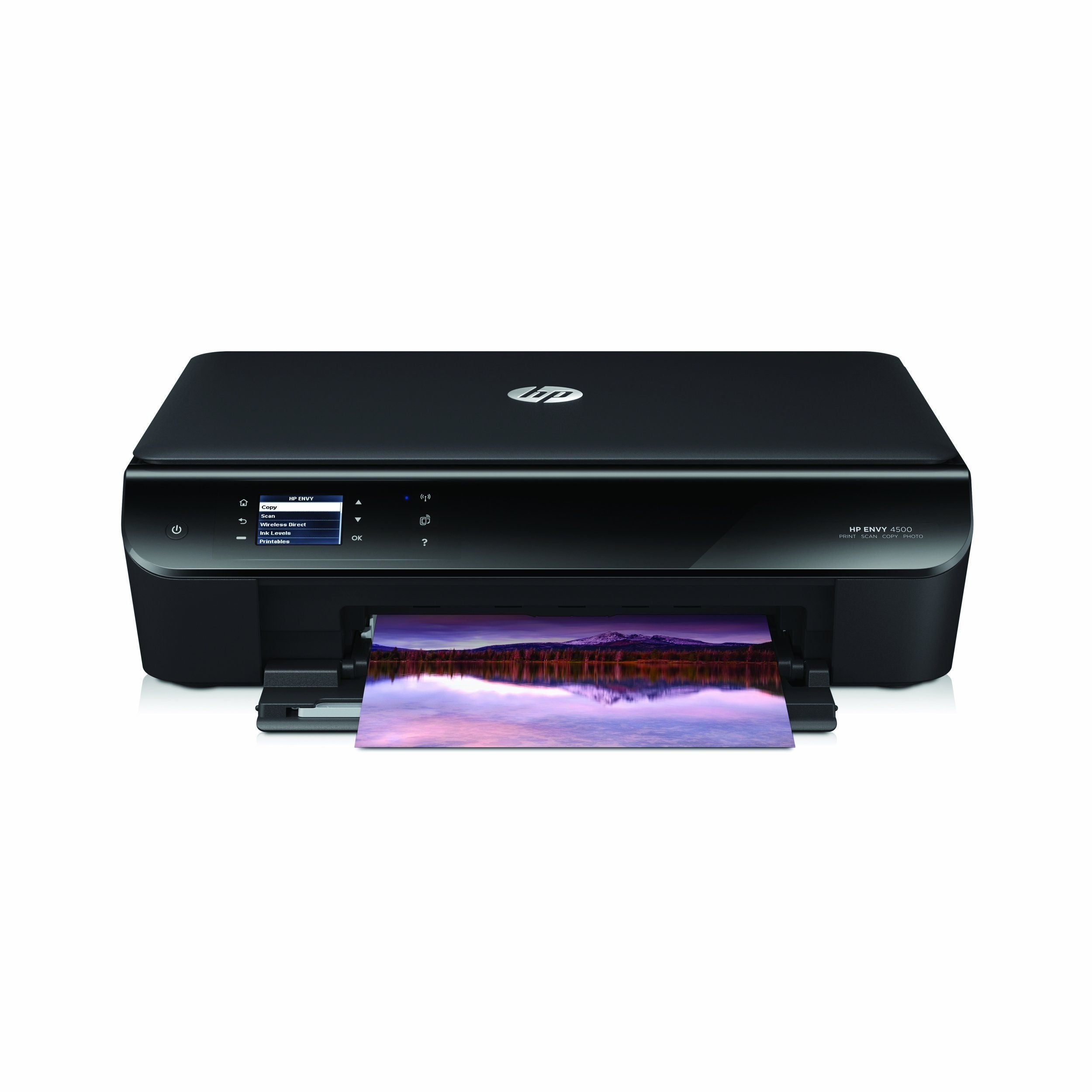 HP Envy 4500 Wireless e-All-in-One Color Photo Printer A9T80A with Black//Color Ink Bundle CR259FN Renewed