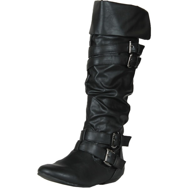 Forever Link Women's Tamika-42 Knee High Riding Boots