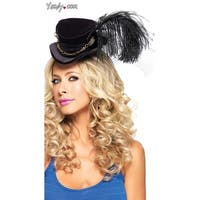 Steampunk Velvet Top Hat, Steampunk Top Hat - Black - One Size Fits most