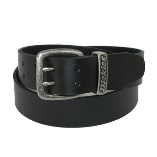 Dickies Men's Big & Tall Leather Double Prong 1 1/2 Inch Belt