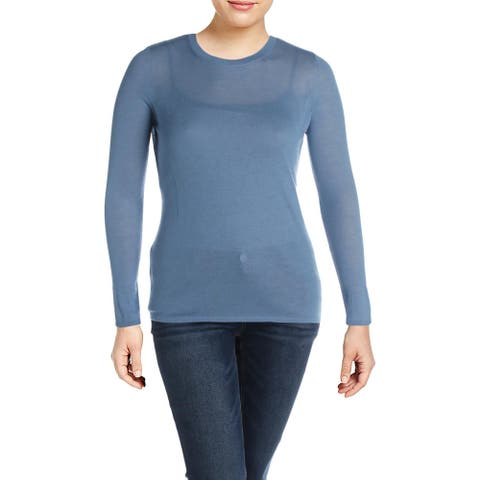 Elie Tahari Womens Langley Pullover Sweater Cashmere Crew Neck