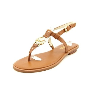 Michael Michael Kors Sondra Sandal Women Open-Toe Leather Brown Slingback Sandal