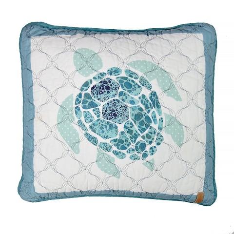 Donna Sharp Summer Surf Sea Turtle Decorative Pillow