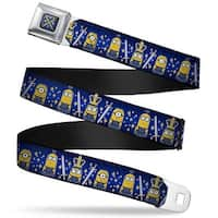 Royal British Invasion Swords Full Color Blue Yellow Royal British Invasion Seatbelt Belt
