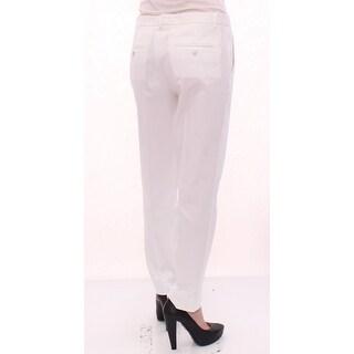 Dolce & Gabbana Dolce & Gabbana White Cotton Solid Pattern Dress Pants - it40-s