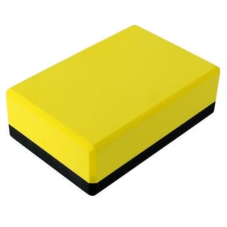 Gym Fitness Workout Training EVA Foam Pilates Yoga Block Brick Yellow Black