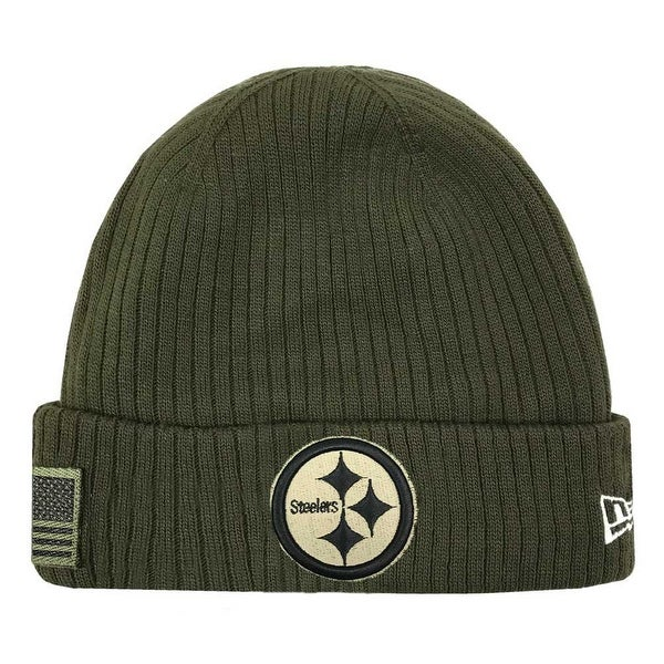 4a3320411 Shop New Era 2018 NFL Pittsburgh Steelers Salute to Service Knit Hat  Stocking Beanie - Free Shipping On Orders Over  45 - Overstock - 23577504