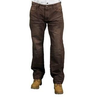 MO7 Men's Brown Fashion Jeans
