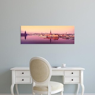 Easy Art Prints Panoramic Image 'Lake Malaren, Riddarholmen, Gamla Stan, Stockholm, Sweden' Canvas Art