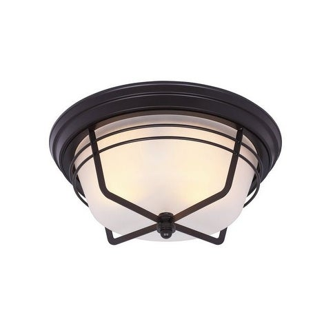 Westinghouse 6230348 Interior Flush Ceiling Light Fixture, Bronze, 60 Watt