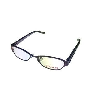 Converse Womens Opthalmic Eyeglass Modified Rectange Metal Frame Gizmo Burgundy - Medium