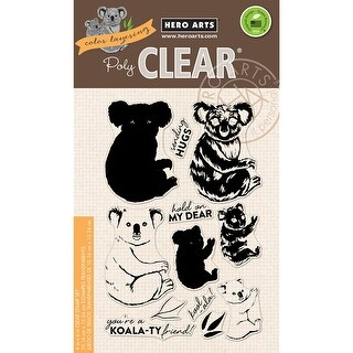 """Hero Arts Clear Stamps 4""""X6""""-Color Layering Koala"""