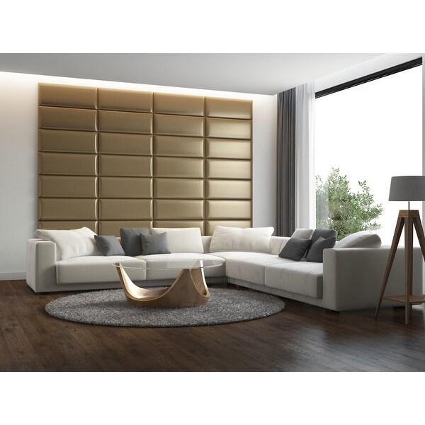 Vant Upholstered Wall Panels (Headboards) Set of 4 - Metallic Gold - 30 Inch - Full-Queen.