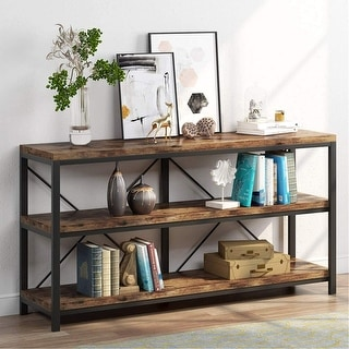 Link to Rustic Console Sofa Table, 3 Tiers Industrial Narrow Long Sofa Table Similar Items in Living Room Furniture