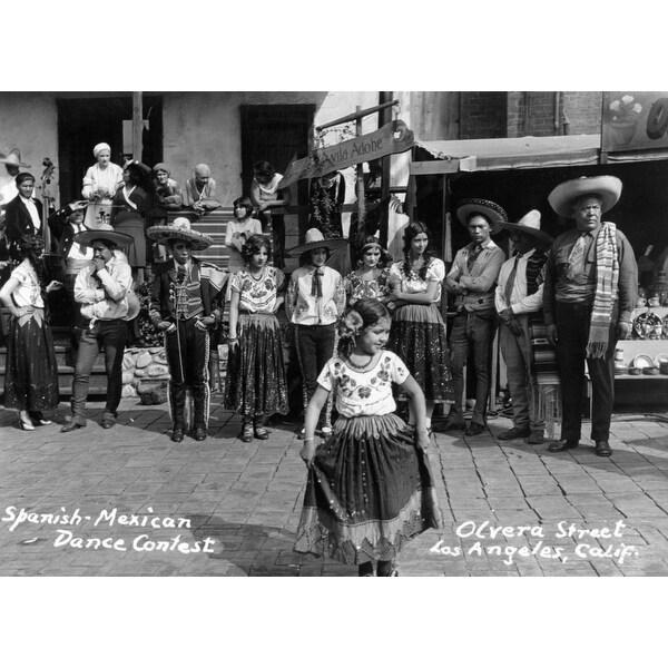 LA, CA Spanish-Mexican Dance Contest Vintage Photo (Acrylic Wall Clock)